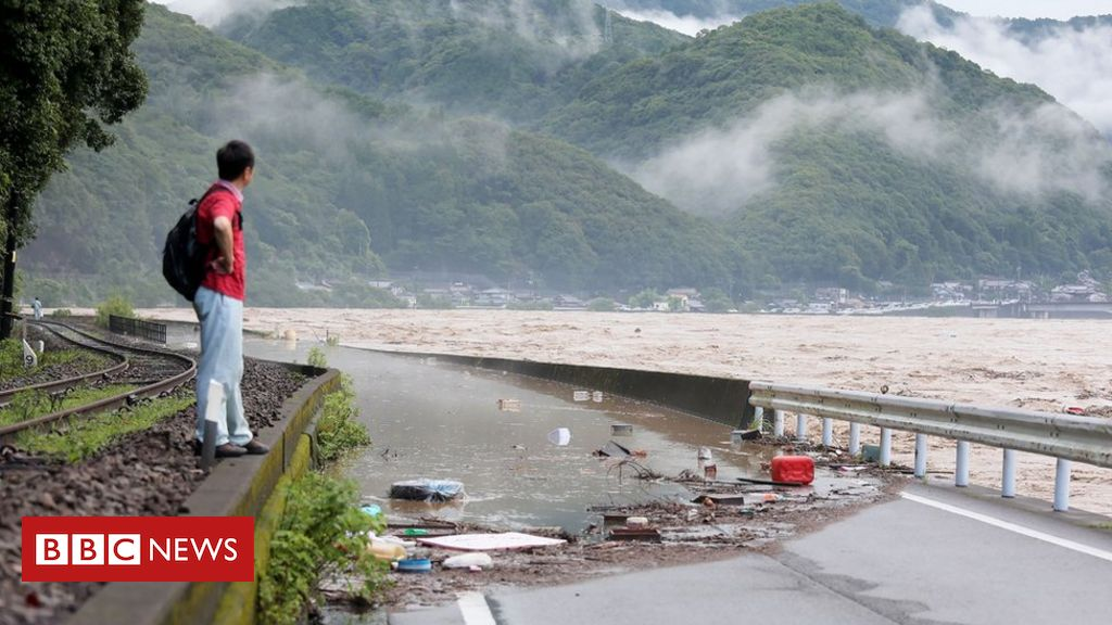 Japan flooding: Many feared dead in flooded care home