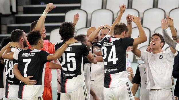Juventus 2-0 Sampdoria: Maurizio Sarri's side claim ninth straight Serie A title