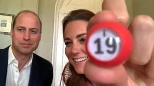 Prince William and the Duchess of Cambridge host a game of bingo for care workers at the Shire Hall Care Home in Cardiff.