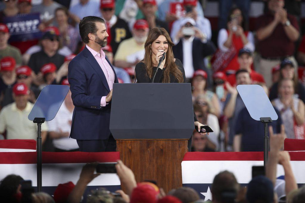 Kimberly Guilfoyle, Donald Trump Jr.'s girlfriend, tests positive
