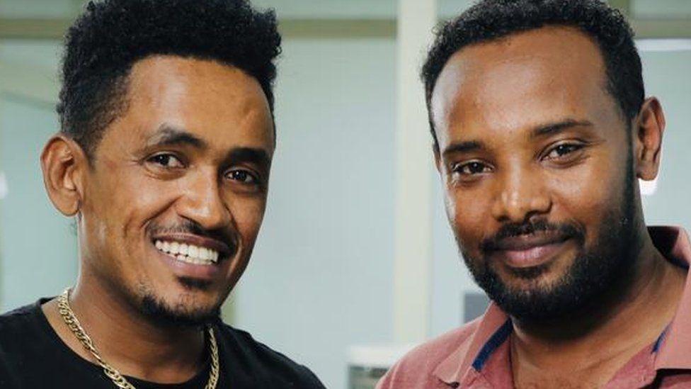 Hachalu Hundessa (L) and Amensisa Ifa had been friends since 2009