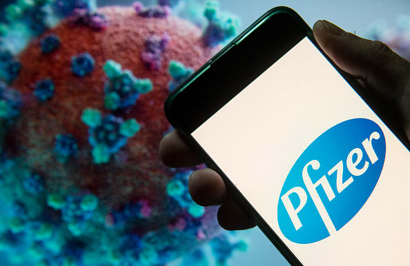 Pfizer stock jumps after it reports positive data in early-stage coronavirus vaccine trial