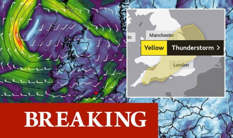 Met Office weather warning: Thunder and lightning to smash Britain in HOURS - new charts   Weather   News