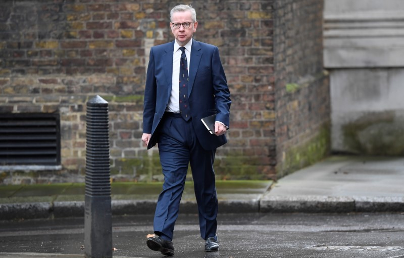 © Reuters. Michael Gove arrives at Downing Street in London