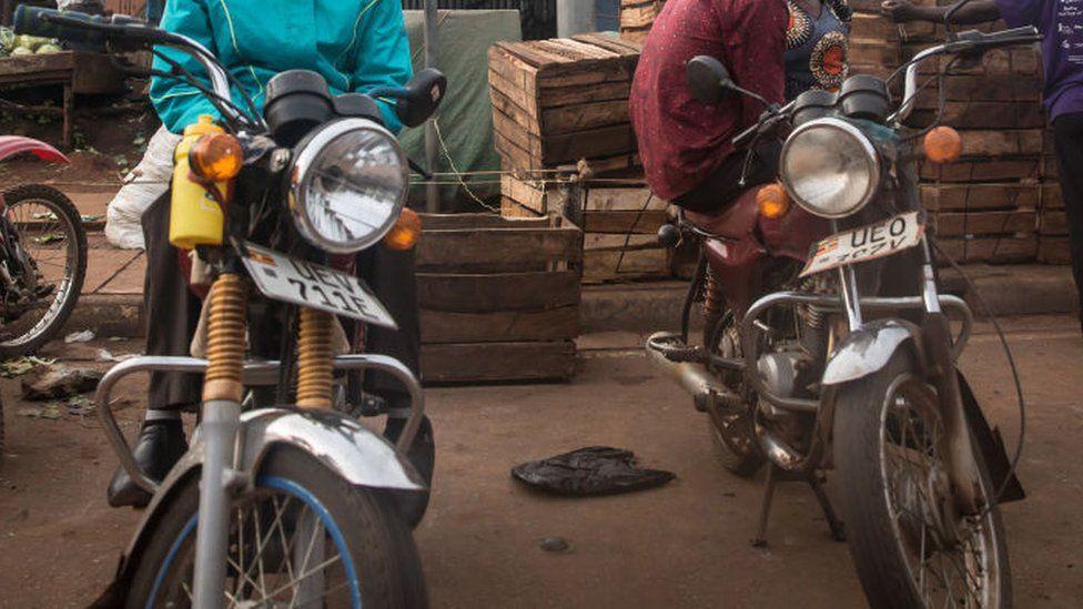 Uganda boda boda rider sets himself on fire 'over bribe'
