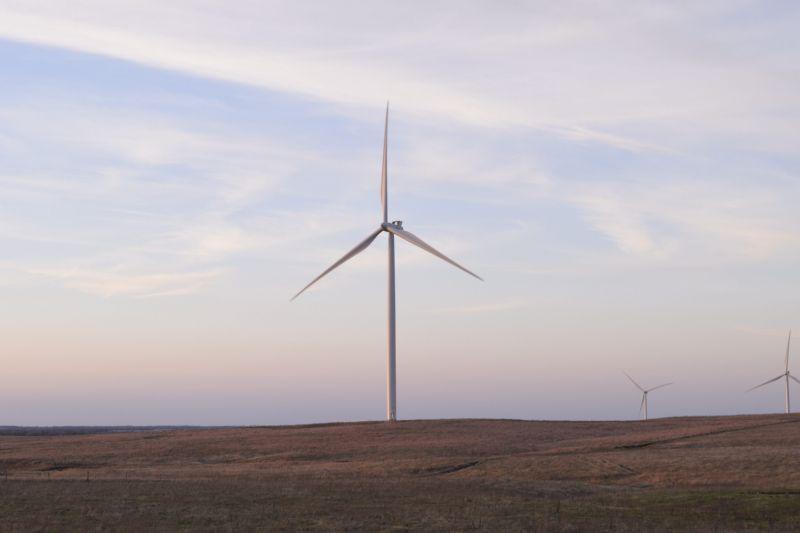 Wind turbines owned by Berkshire Hathaway Energy in O'Neill, Nebraska.