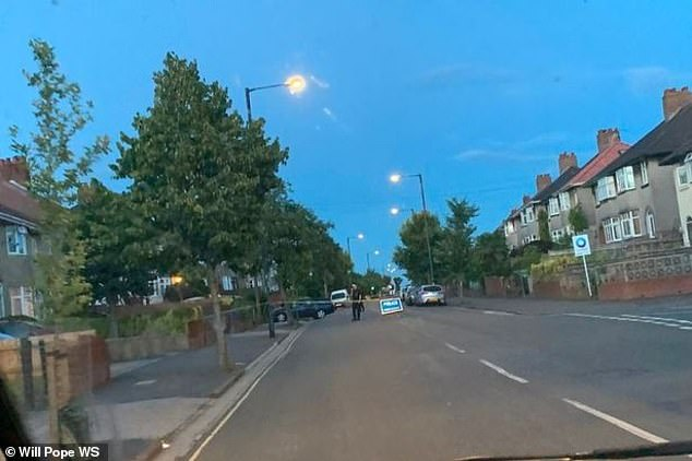 Pictured:Monks Park Avenue in Horfield, Bristol, where K was walking to a bus stop while listening to Stormzy on his headphones when a dark blue Honda Accord was deliberately driven at him