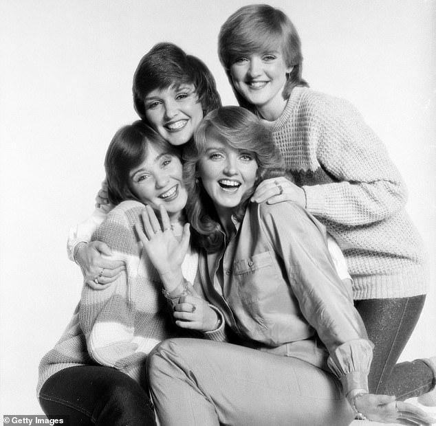 Pictured:Maureen, Bernie, Linda and Coleen Nolan as The Nolan Sisters in 1980