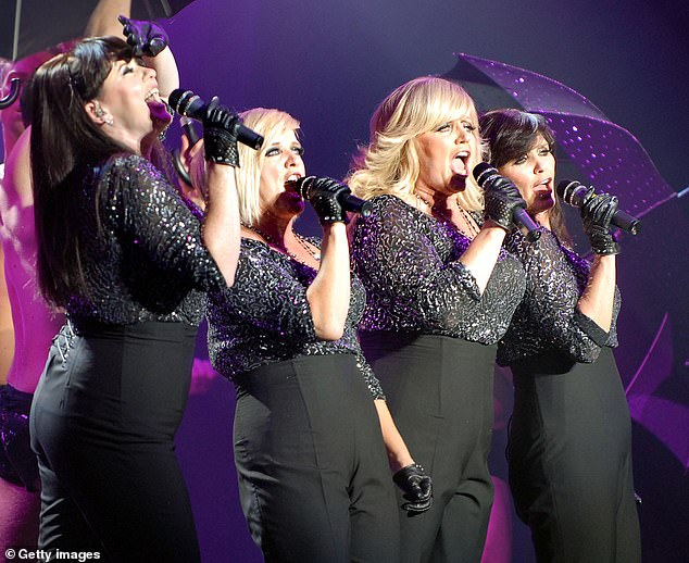 Pictured:Coleen, Bernie, Linda and Maureen Nolan of The Nolans perform at the Apollo in Manchester on October 13, 2009
