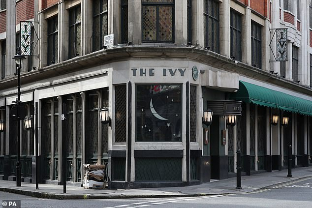 The Ivy Restaurant in London, one of the participating restaurants where diners will be able to enjoy half-price meals from today as the Government begins its Eat Out to Help Out scheme