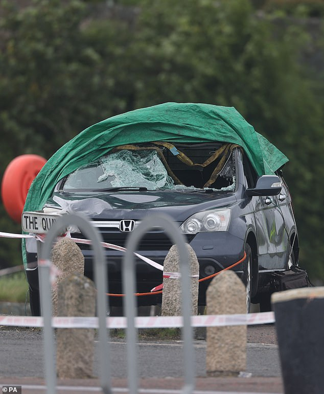 Portaferry RNLI said they and the Portaferry Coastguard recovered the car and one casualty