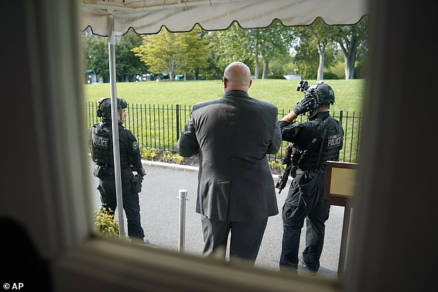 Law enforcement locked down the White House