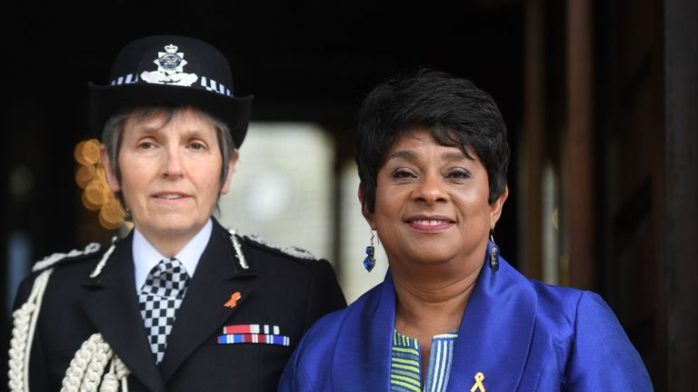 Baroness Lawrence (right) with Metropolitan Police Commissioner Cressida Dick attended the memorial service