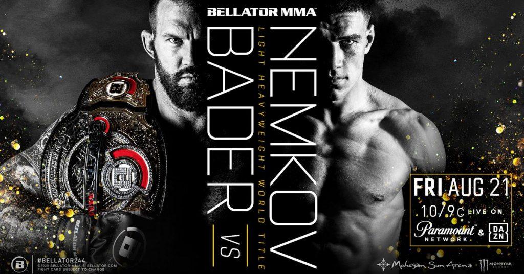 Bellator 244 results: Live streaming play-by-play updates   'Bader vs Nemkov'