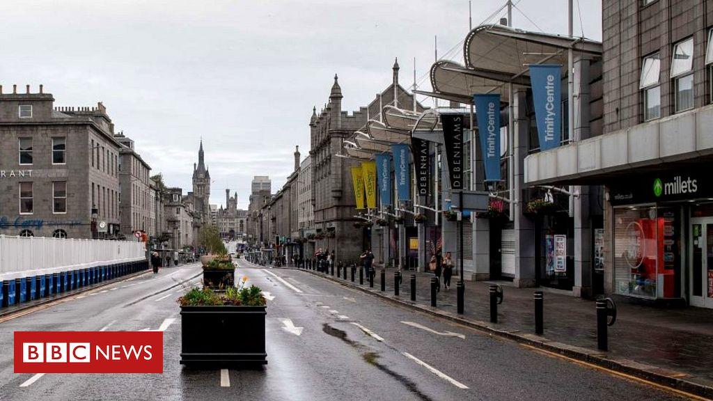 Coronavirus: Empty streets as Aberdeen lockdown takes effect