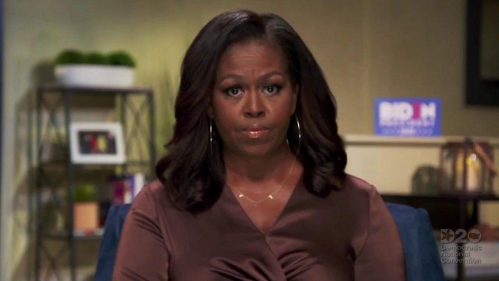 Democratic convention: Michelle Obama blasts Trump