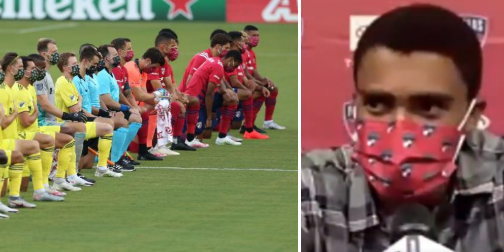 Fans boo MLS soccer players as they kneel for US national anthem—player calls them 'disgusting'