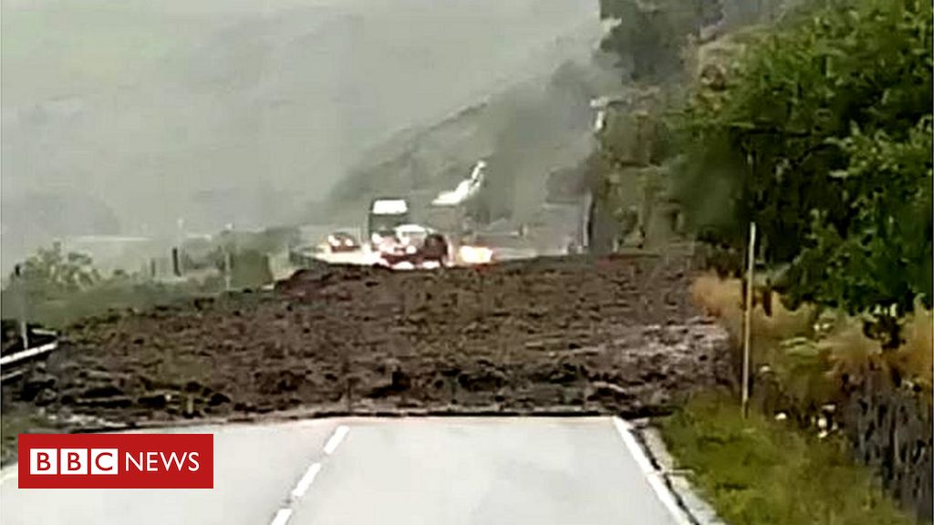 Heavy rain causes landslip at Rest and Be Thankful