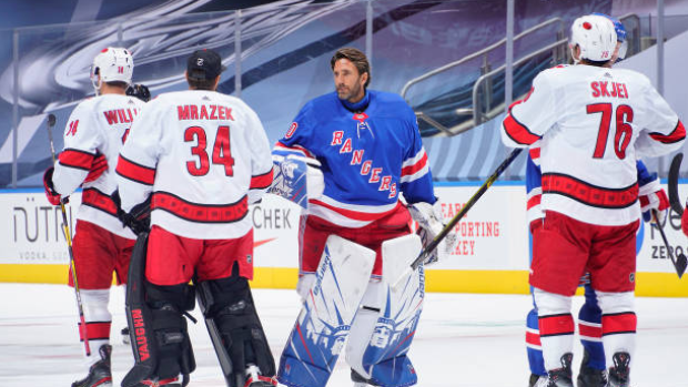 Rangers president had 'personal discussion' with Henrik Lundqvist after elimination