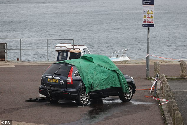 A car was pulled out the water of the harbourin Strangford, Co Down in Northern Ireland after Brian Black died aged in his 70s