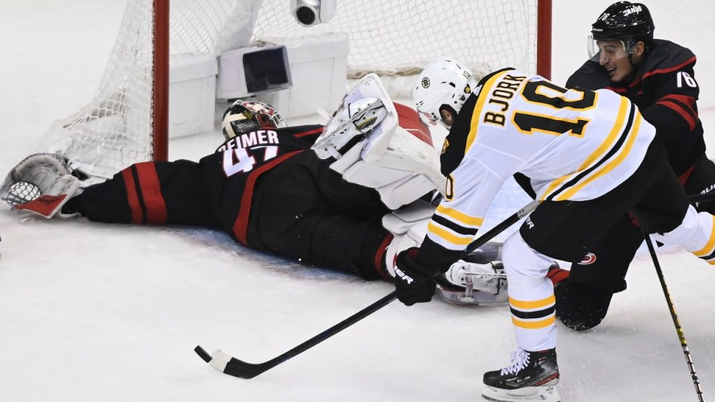 'Ugly' Hurricanes collapse vs. Bruins adds to bubble's mental test