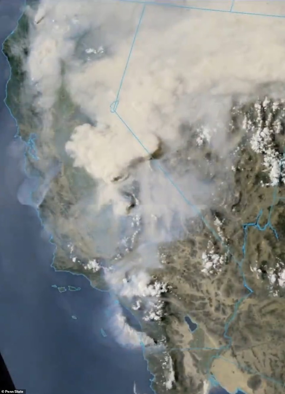 Satellite images on Saturday gave the impression of an El Dorado fire, which launched a gender exposure party