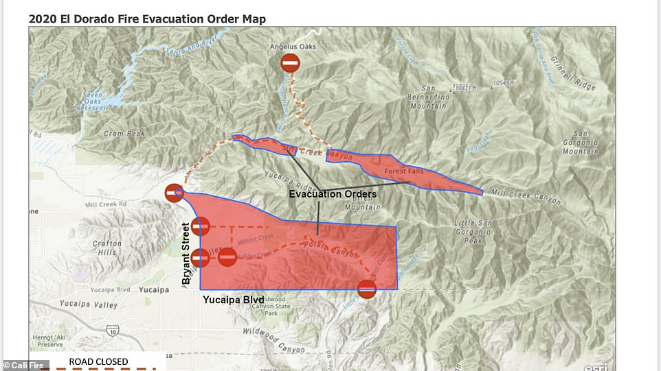 Movement orders in force for Oak Glen, Yukaipa Ridge, Mountain Home Village and Forest Falls communities