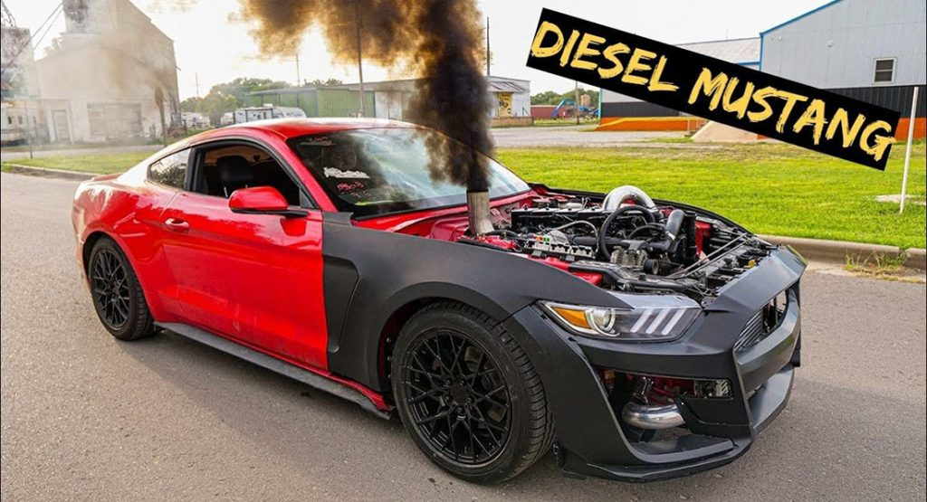 This diesel-powered Ford Mustang muscle car will amaze enthusiasts