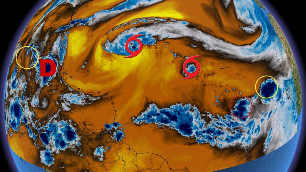 The Weather Network - Systems Parade in the Atlantic between Hurricane Season Peak