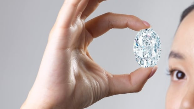 The rare 102 carat Canadian diamond is the most expensive in the world at auction this month
