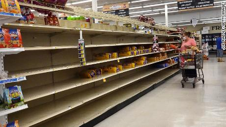 People emptied shelves with the storm earlier than Sally in Alabama.