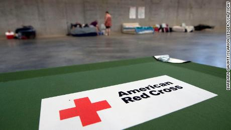 Shelters were opened for home evacuees.