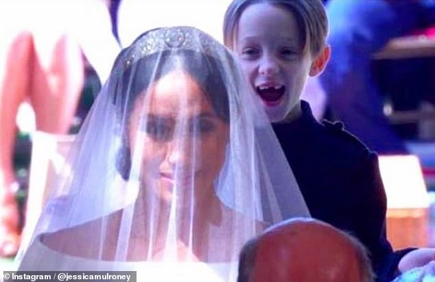Jessica Mulroney, one of her twin sons, Brian, shared with Meghan Markles, 39, at the wedding earlier this month, but dropped Snap next week