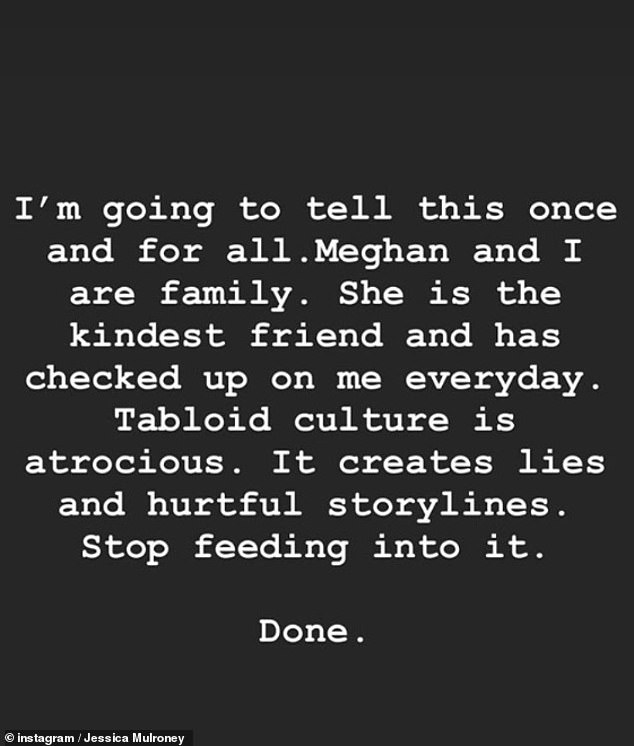 The stylist made the claim in an Instagram post two weeks after Meghan deleted the throwback snap of one of her twin sons at the wedding.