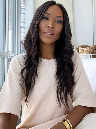 The Duchess of Sussex cut ties with Jessica in August after Black Influencer Sasha Exeter (above) alleged that she was threatening her livelihood 'after committing a crime' in a Black Lives Matter video posted online.