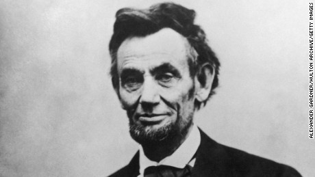 Abraham Lincoln (1809 - 1865), 16th President of the United States of America.