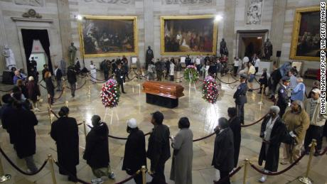 Rosa Parks was honored in 2005 at Capitol Rotunda