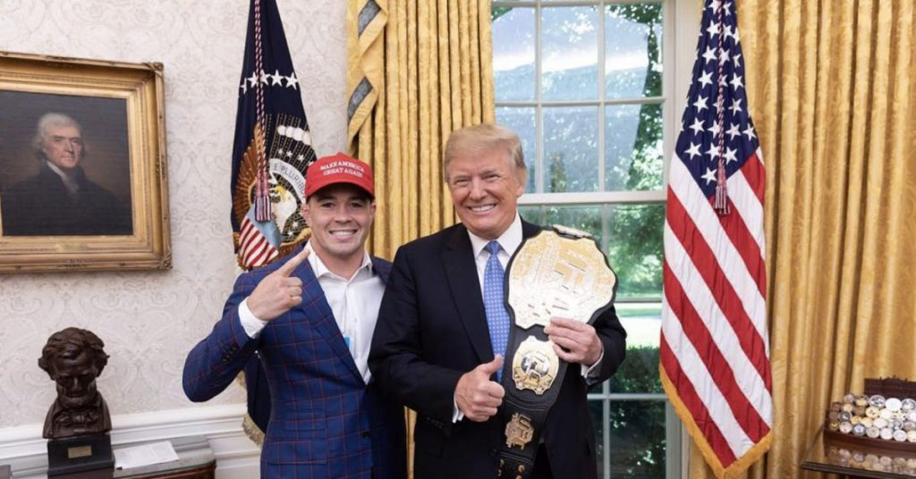 After the UFC Vegas 11 victory, President Donald Trump called Colby Cowington: 'I'm proud of you'