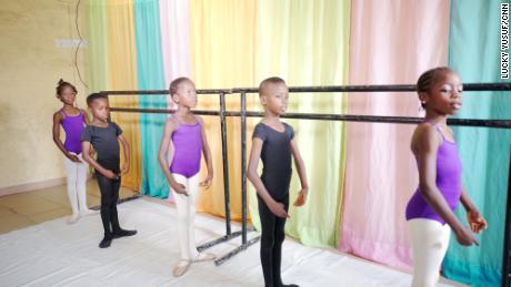 Daniel Azala teaches dance ballet to 12 students at his Lagos home