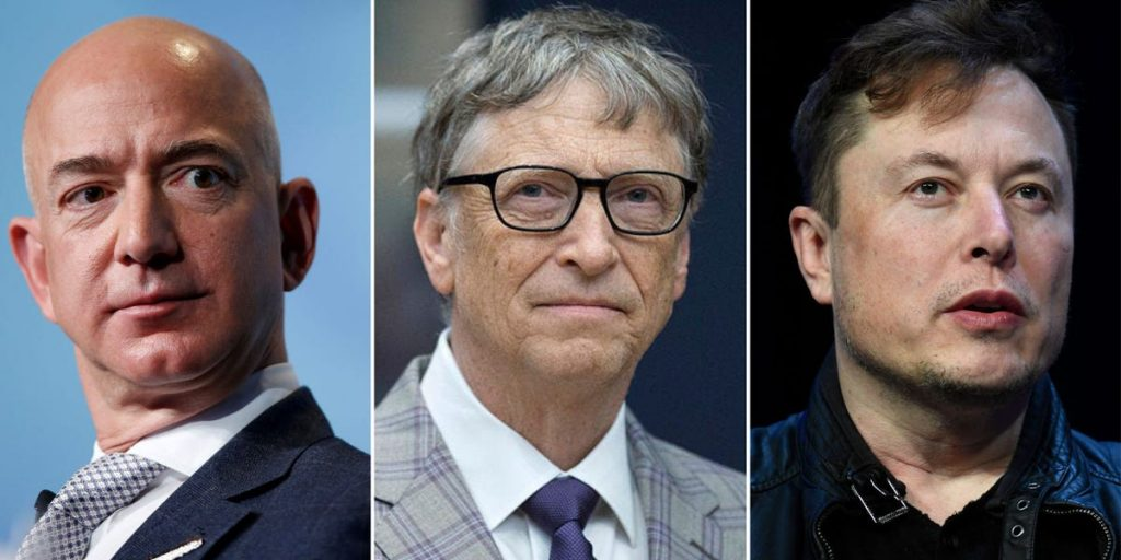 Musk, Bezos, Gates and Zuckerberg lost tens of millions this week