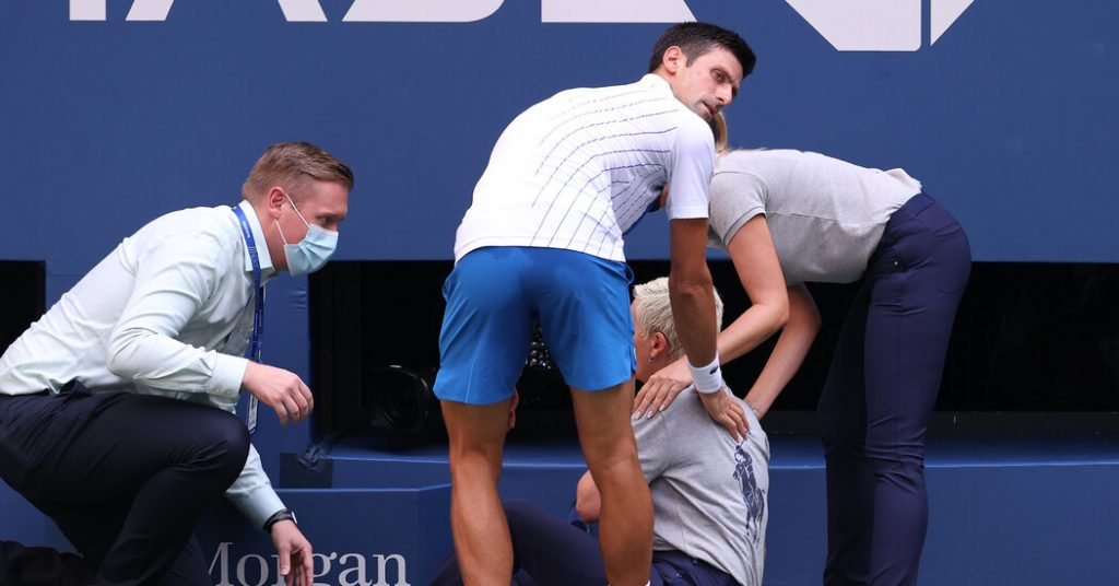 Novak Djokovic opens US Open after line judge's accidental hit