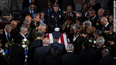 Republican Elijah Cummings became the first black legislator to sleep in the state at U.S. Capitol last year