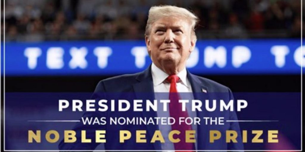 The Trump campaign misrepresents the 'Nobel Peace Prize' in a fundraising announcement