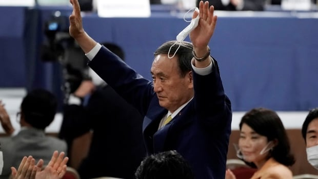 Yoshihide Suga has been elected the new head of Japan's ruling party