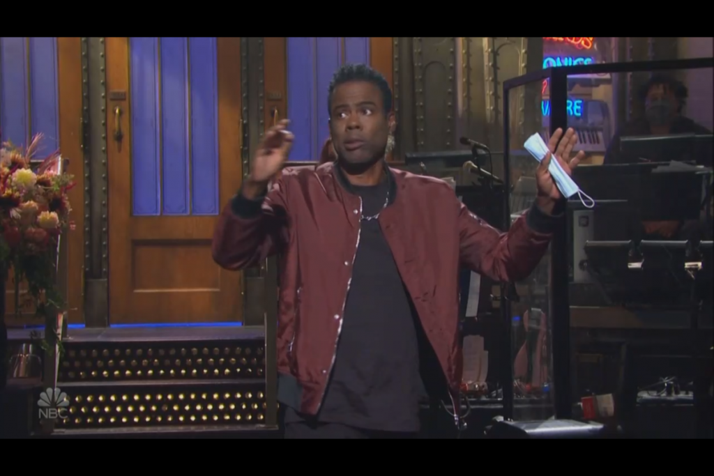 Chris Rock Snacks About Trump On SNL Opening Monologue
