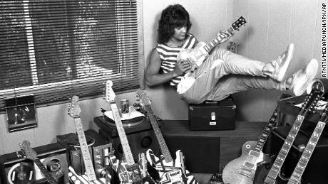 Eddie van Hollen at his home in Los Angeles in 1982.