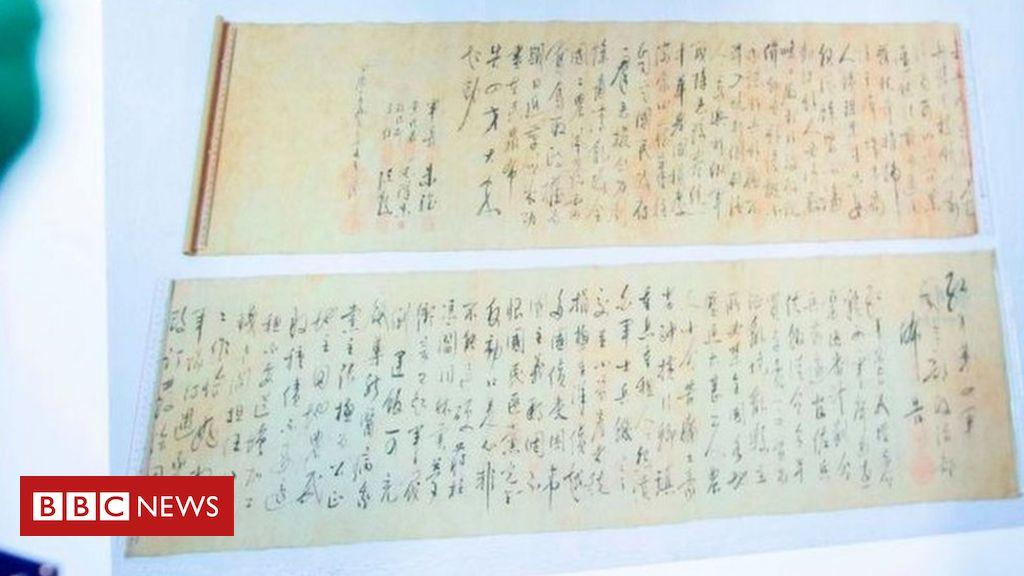 Millions worth of stolen Mao Zedong scroll halved