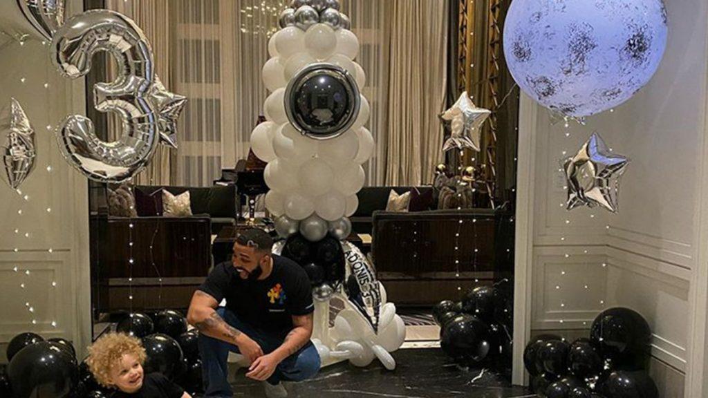 Drakeson Adonis celebrates his third birthday with his grandparents