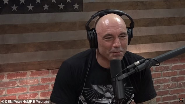 Big deal: Rogan, which broadcasts its podcasts via YouTube, is airing exclusively via Spotify after agreeing to a 'over 100 million million' licensing deal with the streaming platform in May.