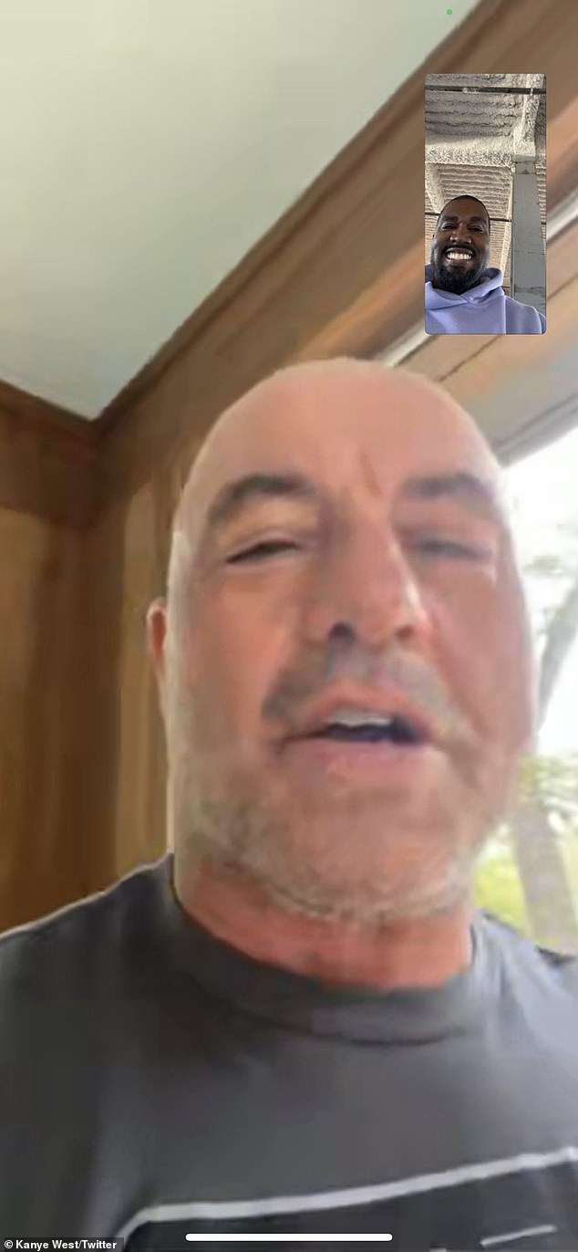 Working for details: The rapper, 43, confirmed the news in a tweet on Saturday afternoon, which included screenshots from a recent facetime call with the show's host Joe Rogan, 53.